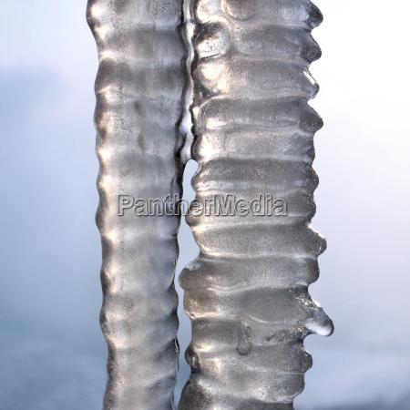 hielo congelado carambano carambanos grifo deshielo