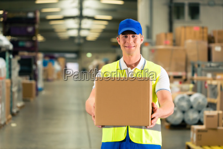 warehouse of freight forwarding keeps package