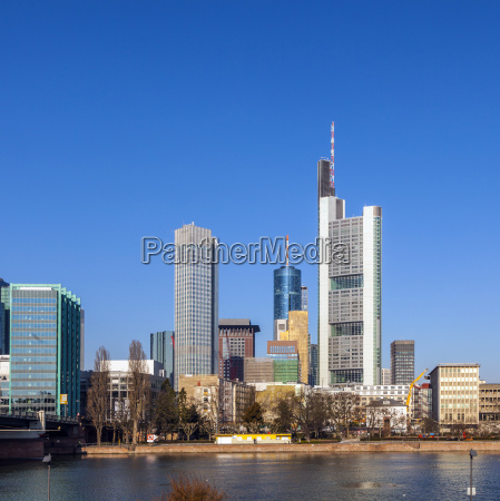 view of the skyline of frankfurt