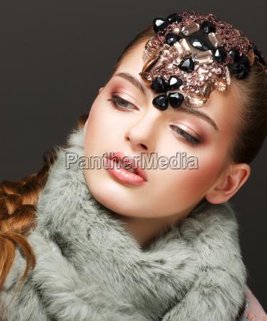 fantasia mujer rusa modelo de moda