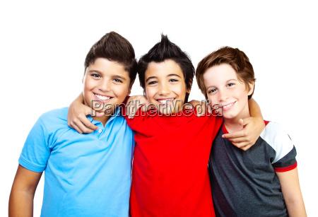 chicos felices adolescentes mejores amigos diversion