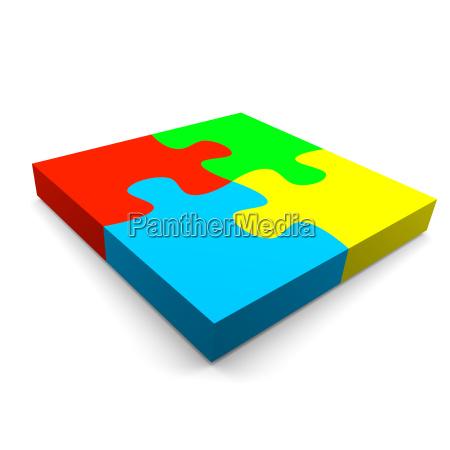 color cuatro ilustracion negocios trabajo mano