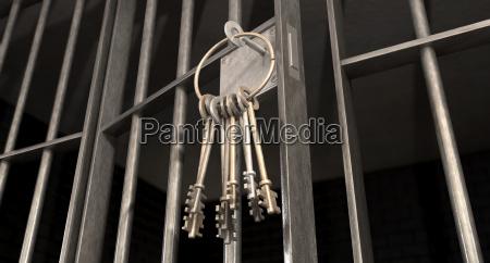 interior de hierro acero knast prision