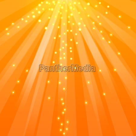 rayos de sol con brillo