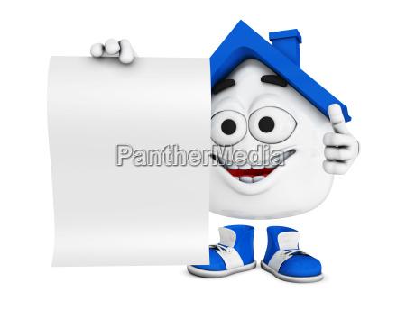 pequenyo 3d casa azul con escudo