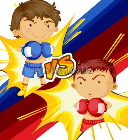 ninyos jugando boxeando