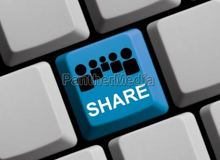 compartir ventaja en linea comun conjunto