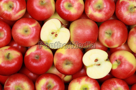 las manzanas forman un fondo