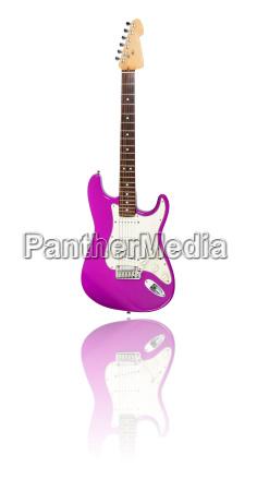 guitarra electrica con reflejo