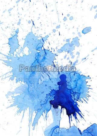 manchas azules y salpicaduras en blanco