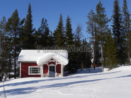 wooden house on altajaervi