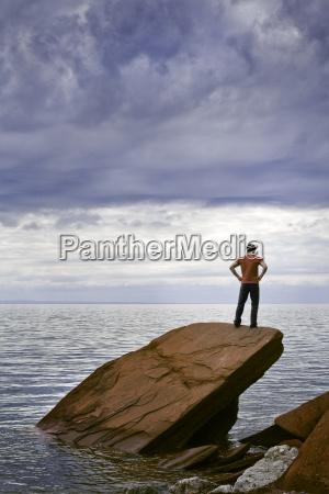 hombres hombre relajacion horizonte masculino nube