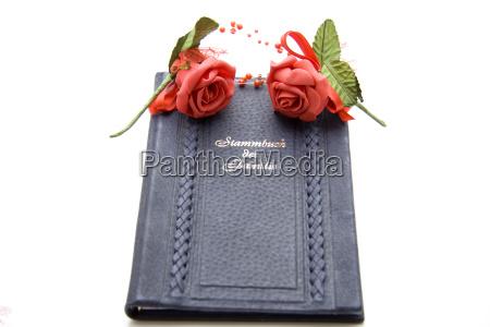 boda matrimonio rosas documento certificado encuadernacion