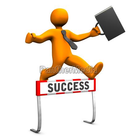 businessman steeplechase success