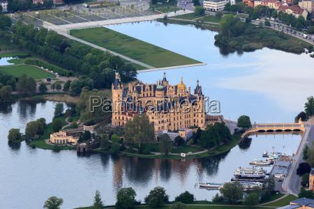 castillo, de, schwerin, con, castle, park - 9366092