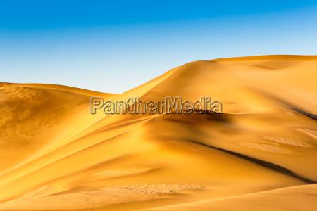 desierto africa namibia dorado seco arenas