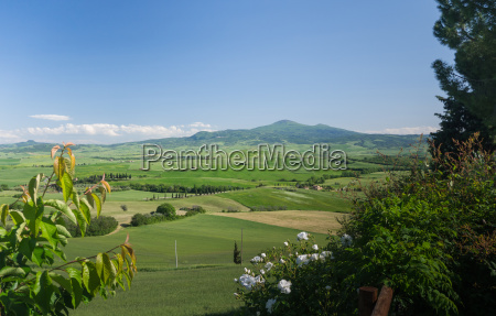 panoramic view on the val dorcia