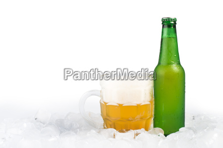 bottle of beer and beer mug