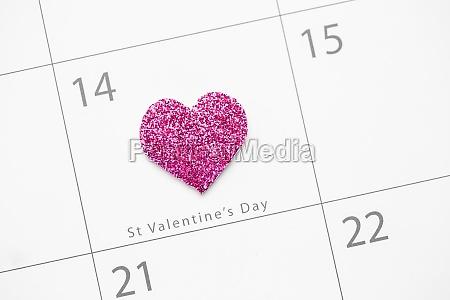 romantico forma dia de san valentin