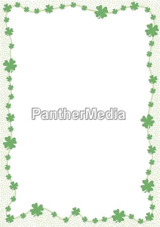 franja de hojas de trebol verde