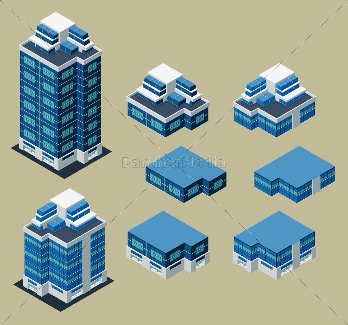edificio, isométrico - 9655938