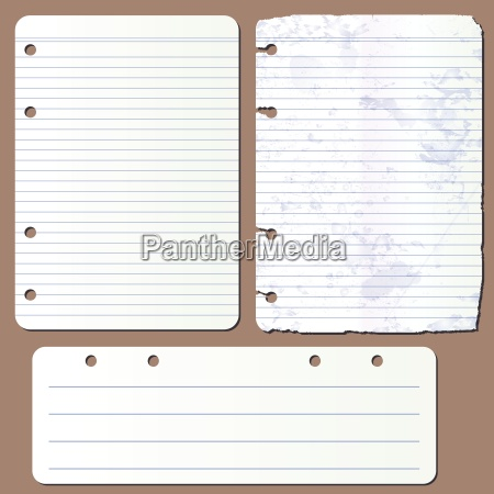 vector pages from notepad