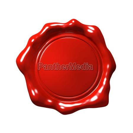 sello de cera roja 4