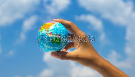 paseo viaje cielo globo tierra las