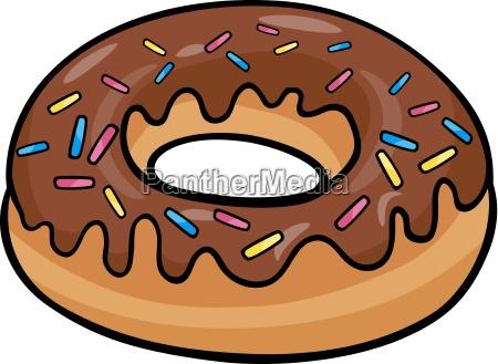 donut cake ilustracion de dibujos animados