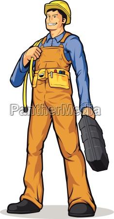 trabajador de construccion industrial con