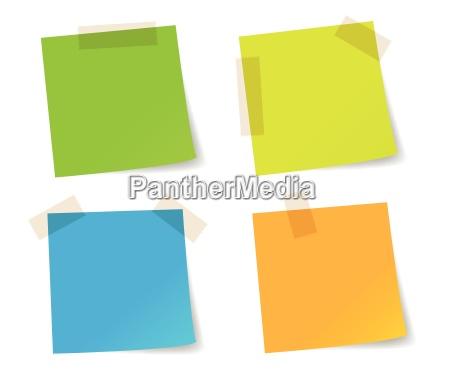 documentos de palo de coloridos nota