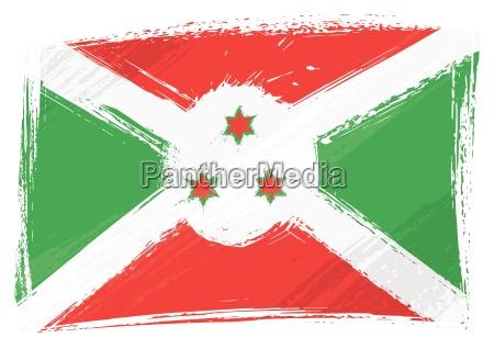 bandera de grunge burundi