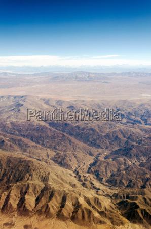 vertical desert view