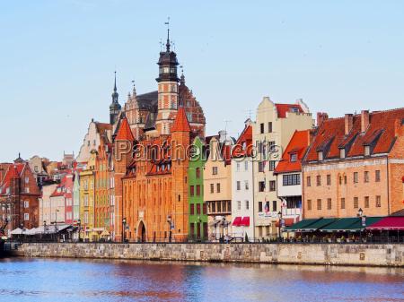 gdansk cityscape y el rio moltawa