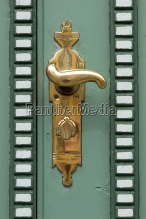 antique front door detail
