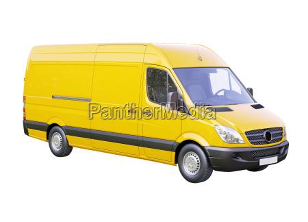 furgoneta comercial aislada