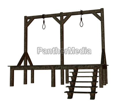 madera horca andamio ejecucion pena de