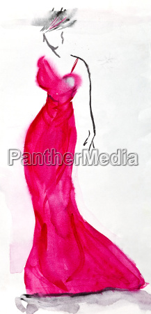 vestido de noche largo de color