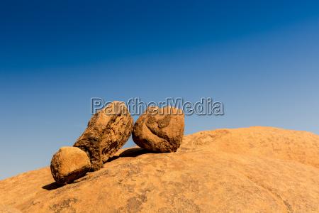 desierto africa namibia rocas rock ocre
