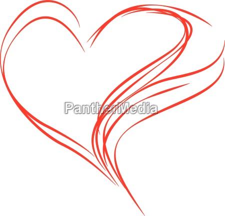 abstracto rojo del corazon