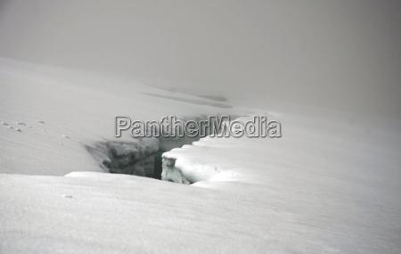 peligro invierno niebla columna islandia glaciar