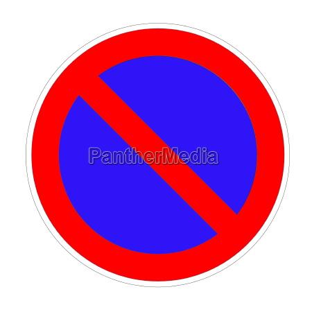 azul liberado aislado no prohibido chaussee