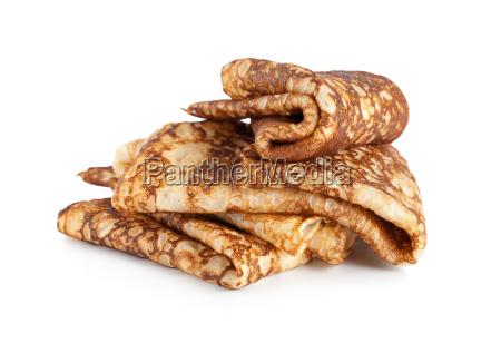 folded, pancakes, isolated - 10115869