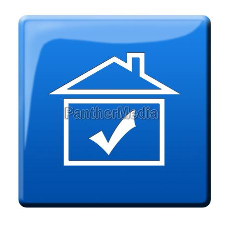 icono, de, casa, símbolo - 10119441