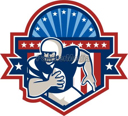 futbol americano qb quarterback crest