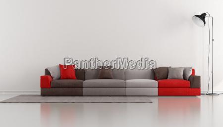 salon minimalista con moderno colorido