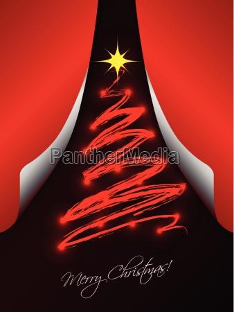 tarjeta de navidad con los papeles