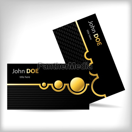 dark business card design with gold