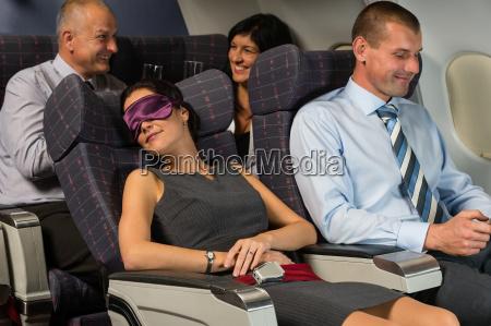mujer, de, negocios, dormir, durante, la - 10269333