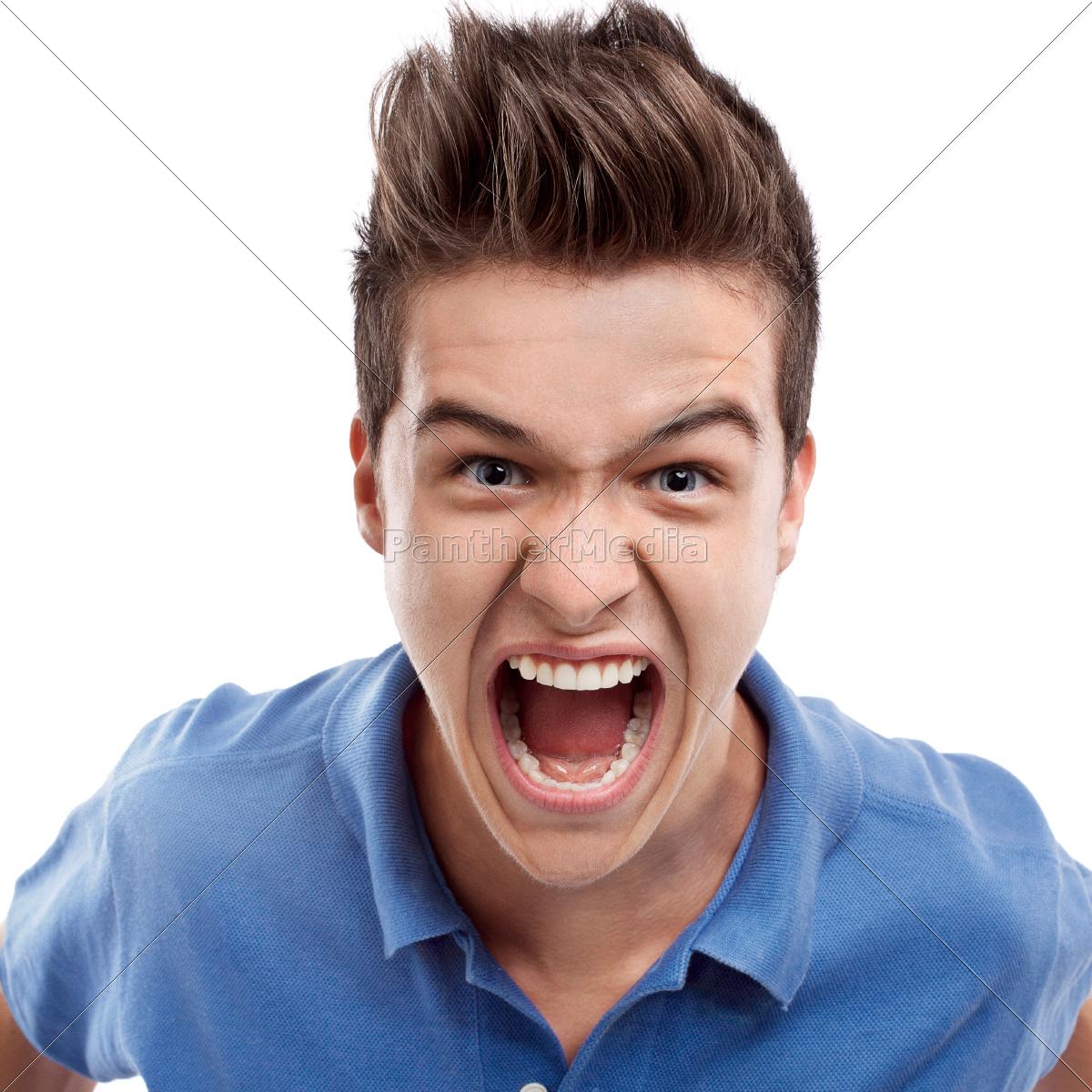 hombre, enojado, gritando - 10311713